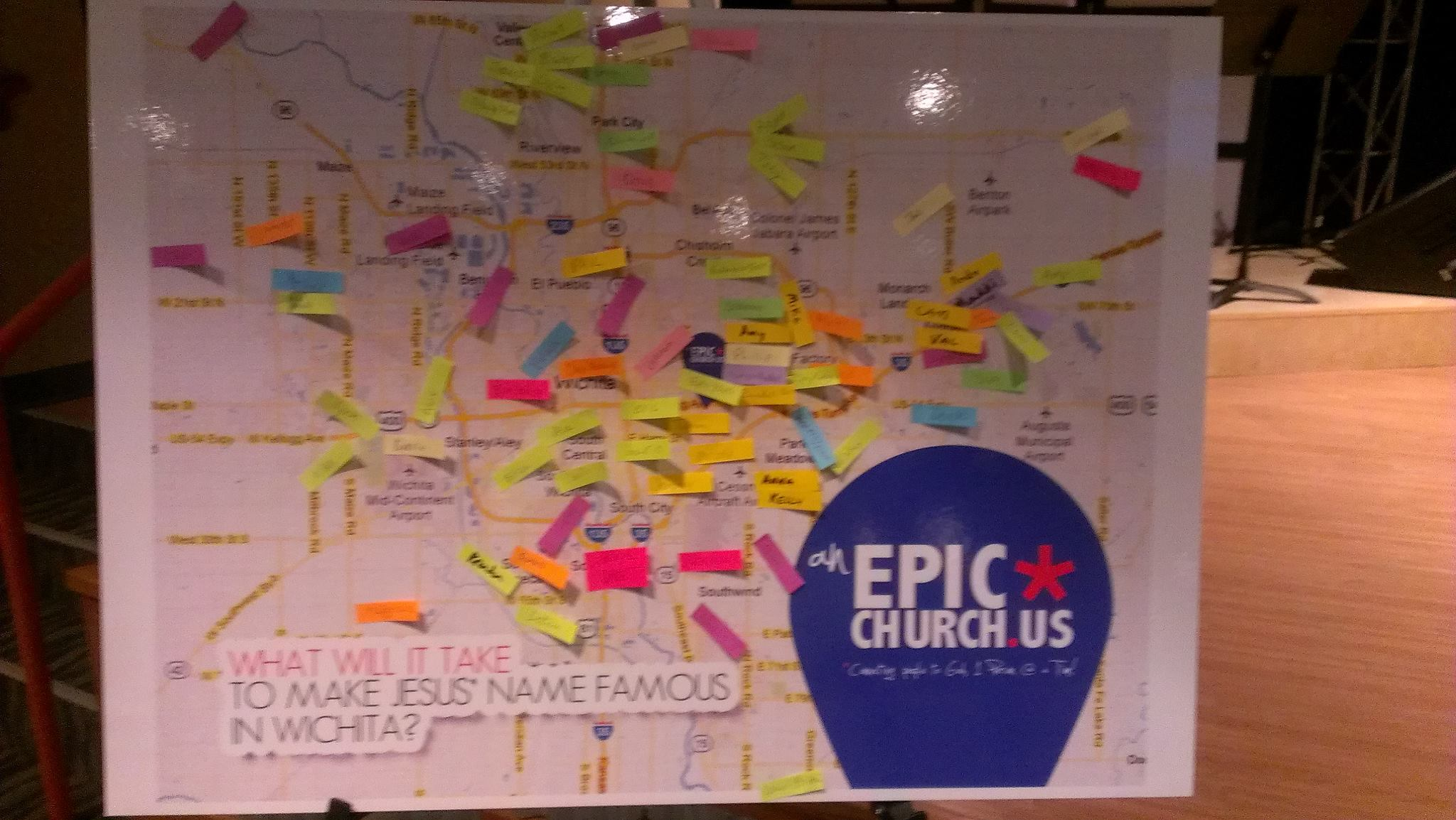 Epic Church Map of Wichita
